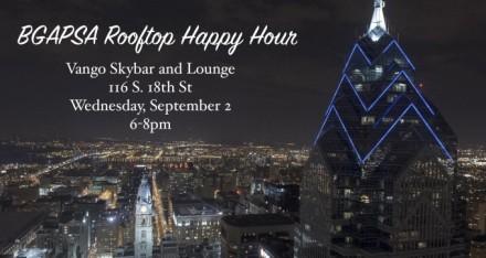 Vango Rooftop Happy Hour Flyer